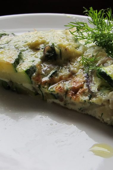 Courgette, Parmesan and Dill Frittata