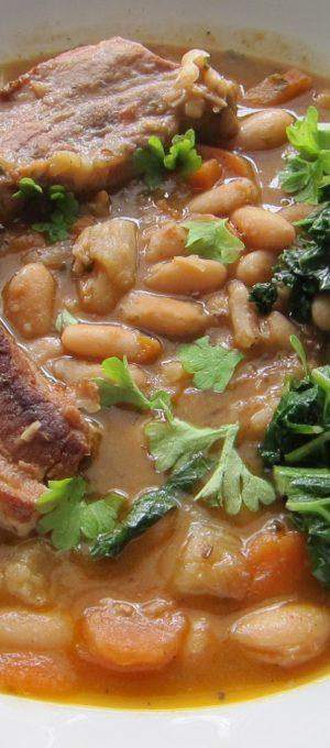 Belly Pork and Cannellini Bean Stew