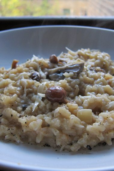 A 'Cracking' Mushroom Risotto with Parmigiano Reggiano