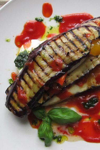 Recipe: Aubergine, Pepper and Mozzarella Sandwich