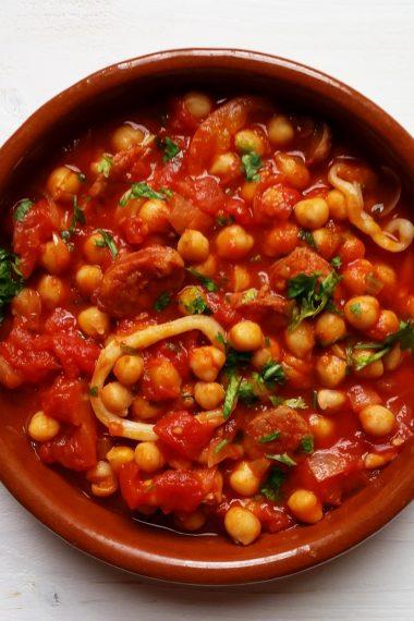Chorizo, Squid and Chickpea Stew