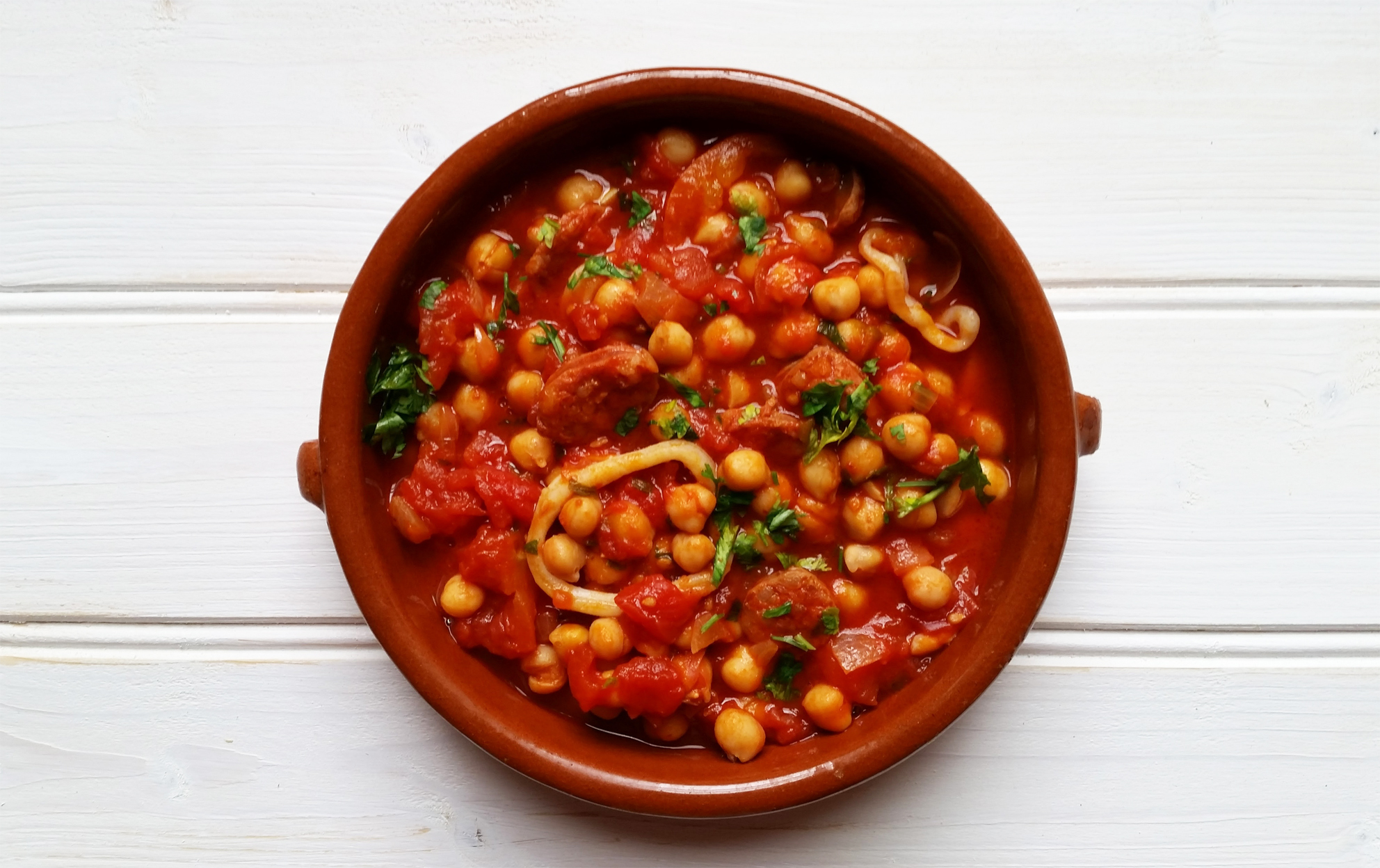 Chorizo, Squid and Chickpea Stew