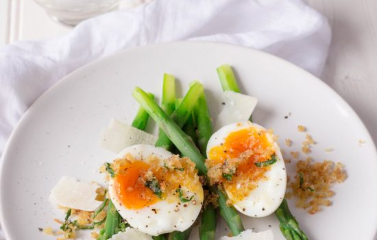 Asparagus, Egg and Wild Garlic Crumb