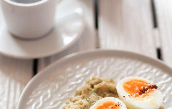 Baba Ganoush and Boiled Eggs