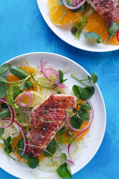Red Mullet, Orange and Fennel Salad